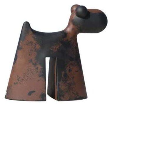 Serralunga DOGGY CORTEN Rostoptik Skulptur In-Outdoor