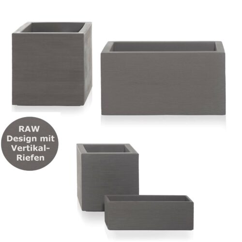 QUADRA-RAW Pflanzkasten inkl. Rollen 4 Gr. bis 90×45 cm In-Outdoor