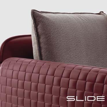 Slide MARA ARMCHAIR Luxus-Leder-Optik 106 cm b, In-Outdoor