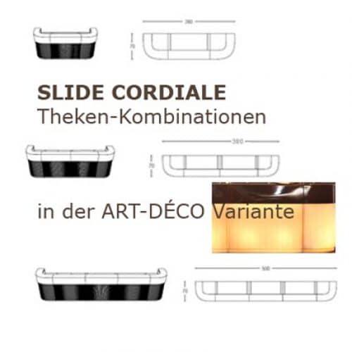 CORDIALE ART DÉCO Kombination 3-teilig 260 cm, 4-teilig 380 cm, 5-teilig 500 cm