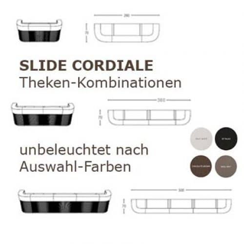 CORDIALE Kombination unbeleuchtet 3-teilig 260 cm, 4-teilig 380 cm, 5-teilig 500 cm