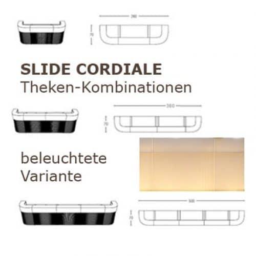 CORDIALE LIGHT Kombination 3-teilig 260 cm, 4-teilig 380 cm, 5-teilig 500 cm