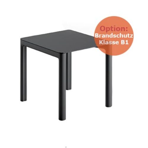 PLUST CHLOE' TABLE 80×80 o. 140×80 cm schwerentflammbar, In-Outdoor