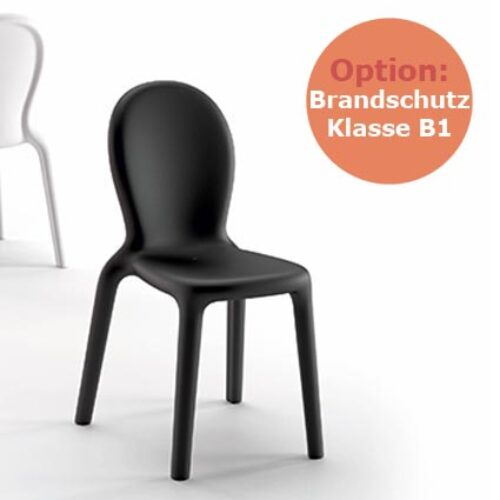PLUST CHLOE' CHAIR B1, schwerentflammbar, In-Outdoor