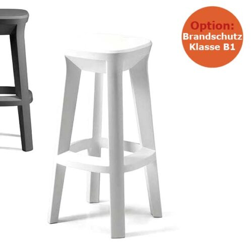 PLUST FROZEN SQUARE STOOL Barhocker schwerentflammbar, In-Outdoor