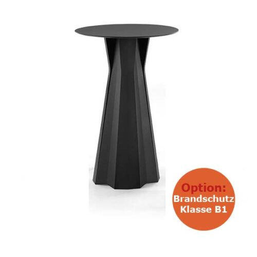 PLUST FROZEN TABLE B1 Bartisch Struktur schwerentflammbar, In-Outdoor