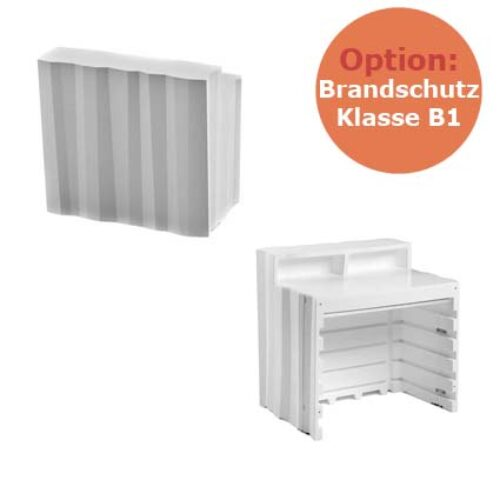 PLUST FROZEN DESK B1 Bar Theken Modul, schwerentflammbar, In-Outdoor