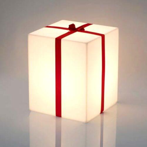 Slide MERRY CUBO LIGHT Leuchtwürfel mit Zierband in 5 Auswahlgrößen