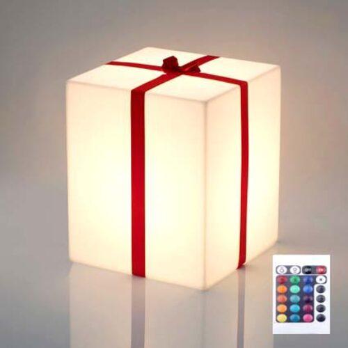 Slide MERRY CUBO RGB LIGHT Leuchtwürfel mit Zierband 3 Auswahlgrößen