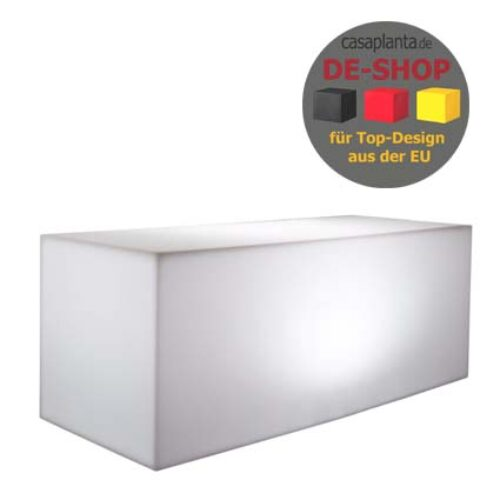 E3P-Style CUBE-LIGHT-Long Sitzbank beleuchtet 100x40x40 cm h, In-Outdoor