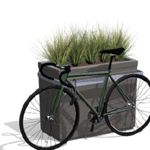 POÉTIC-HORIZON-RECTANGULAIRE-HIGH VELO Pflanzkasten 80 cm h mit Fahrradhalter